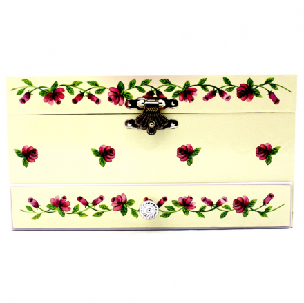 Fuchsia Ballerina Musical Jewellery Box
